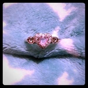 Jewelry - ❤Must Bundle!❤ Pink & White CZ Heart (Silver) Ring